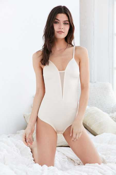 Out From Under Shimmer Mesh Insert Fusion Bodysuit