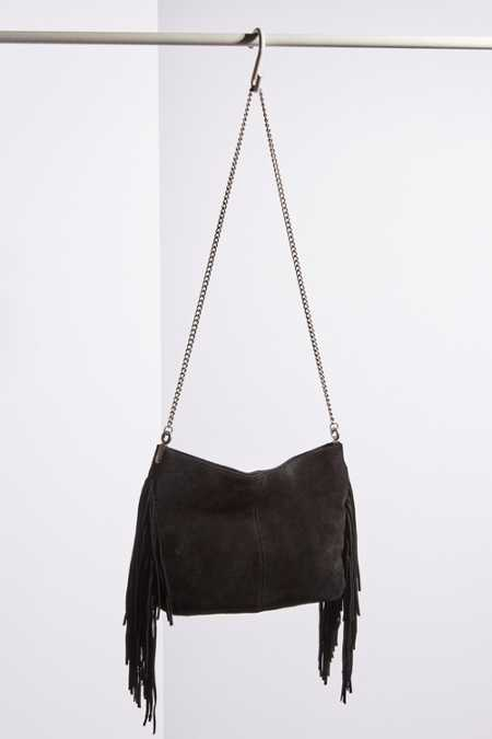 Ecote Suede Fringe Shoulder Bag