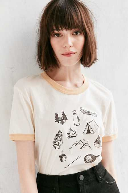 Truly Madly Deeply Campground Ringer Tee