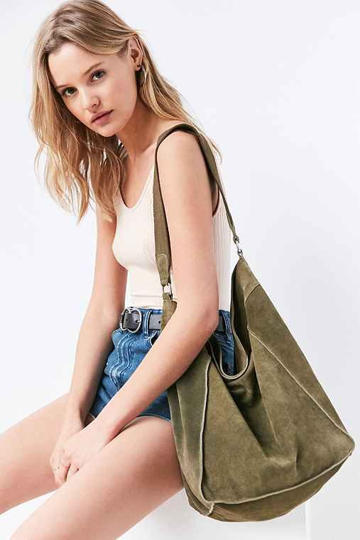 BDG Jenni Slouchy Shoulder Bag,GREEN,ONE SIZE
