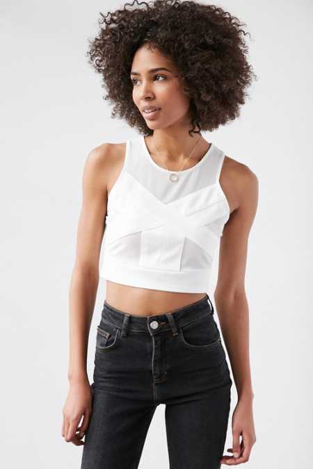 Silence + Noise Alesandra Bodycon Cropped Top