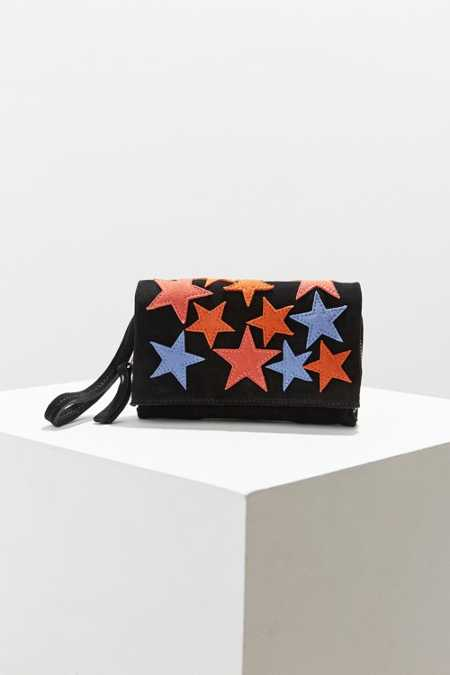 Cooperative Suede Stars Clutch Bag