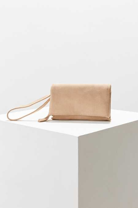 Cooperative Suede Clutch