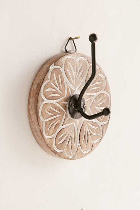 Wooden Round Hand Painted Wall Hook