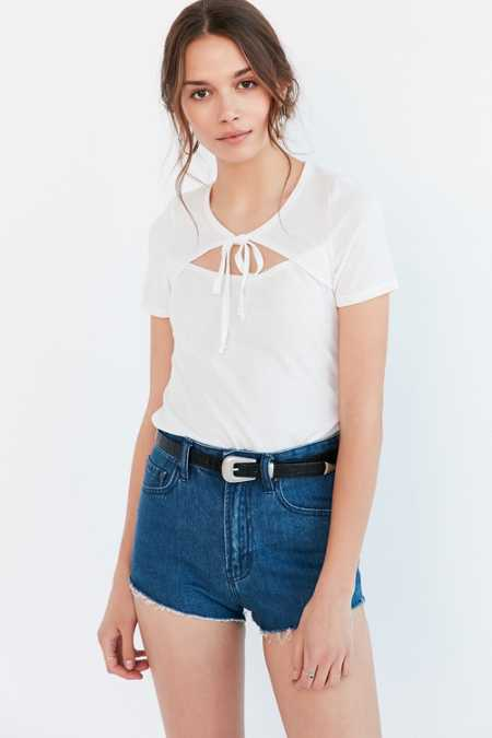 Project Social T Bianca Tie-Front Tee