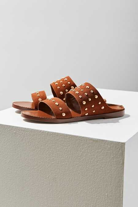 Studded Suede Slide