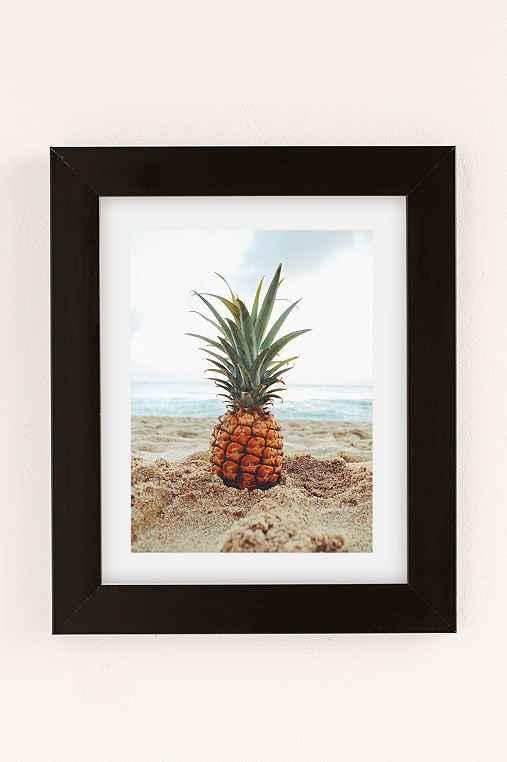 Kat Gaskin Salty Pineapple Art Print,BLACK MATTE FRAME,30X40