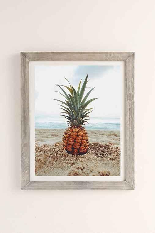 Kat Gaskin Salty Pineapple Art Print,GREY BARNWOOD,18X24