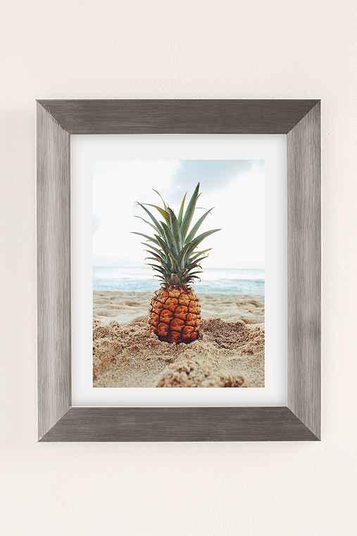 Kat Gaskin Salty Pineapple Art Print,SILVER MATTE FRAME,18X24