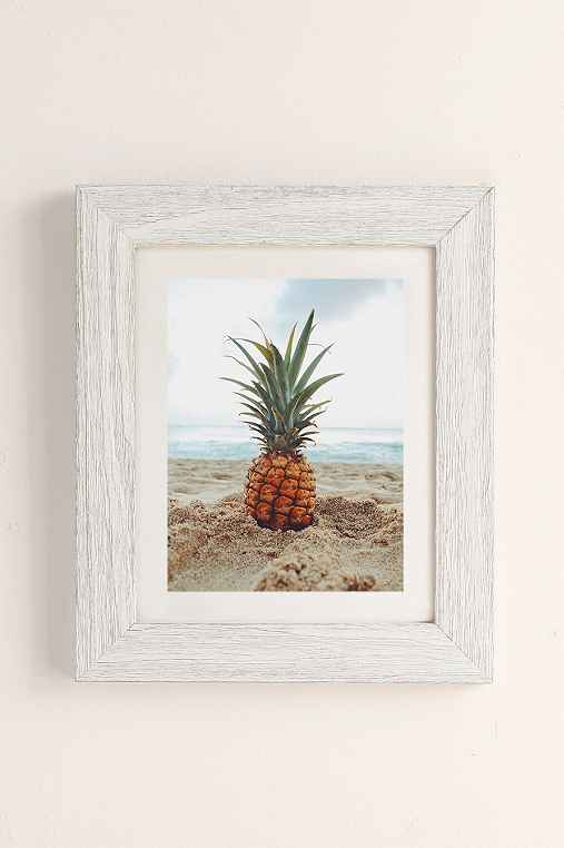 Kat Gaskin Salty Pineapple Art Print,WHITE BARNWOOD,40X60