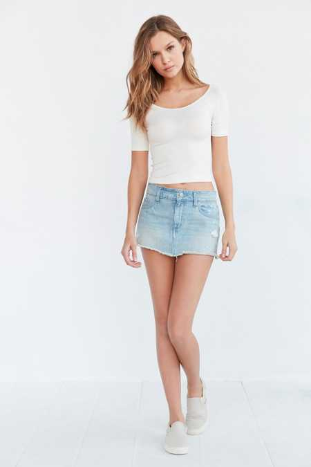 BDG Thalia Denim Micro Mini Skirt