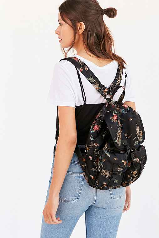 Silence + Noise Floral Drawstring Backpack,BLACK,ONE SIZE