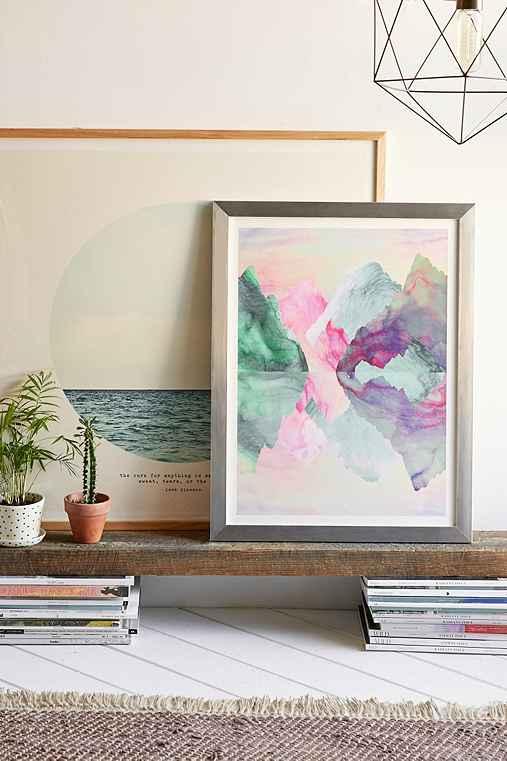 Caroline Krzykowiak Iridescence Art Print,SILVER MATTE FRAME,30X40
