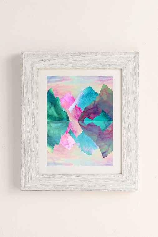 Caroline Krzykowiak Iridescence Art Print,WHITE BARNWOOD,40X60