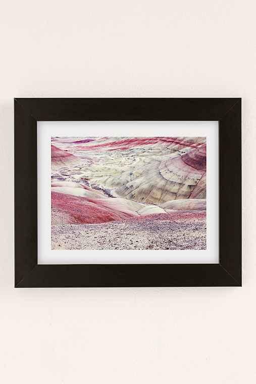 Christina Hicks Painted Hills Art Print,BLACK MATTE FRAME,18X24