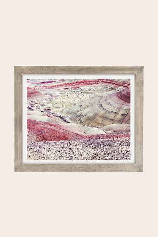 Christina Hicks Painted Hills Art Print,GREY BARNWOOD,13X19