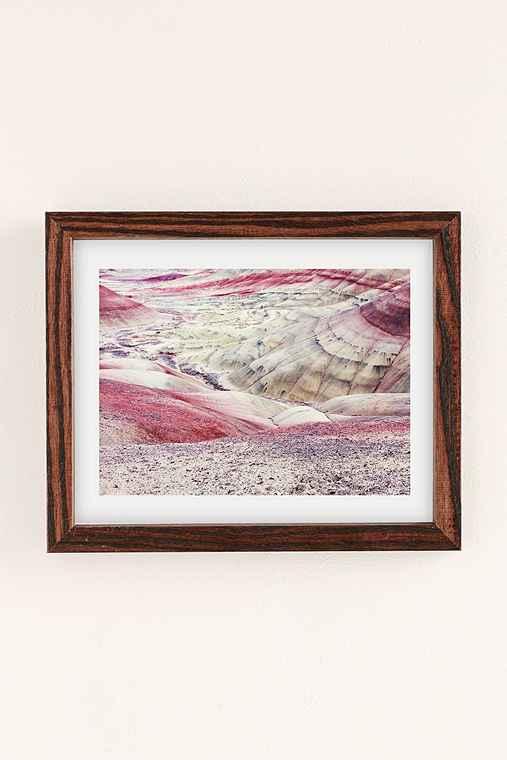 Christina Hicks Painted Hills Art Print,WALNUT WOOD FRAME,18X24