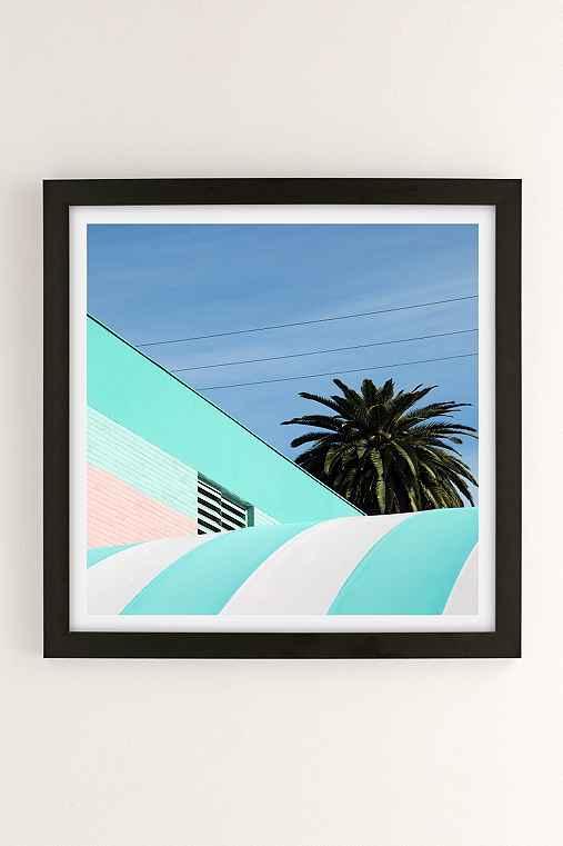 George Byrne Green & White #2 Art Print,BLACK MATTE FRAME,12X12