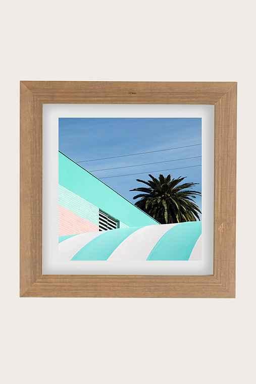 George Byrne Green & White #2 Art Print,BUFF BARNWOOD,44X44