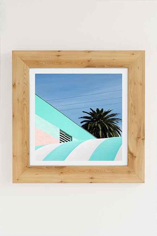 George Byrne Green & White #2 Art Print,PINE,30X30