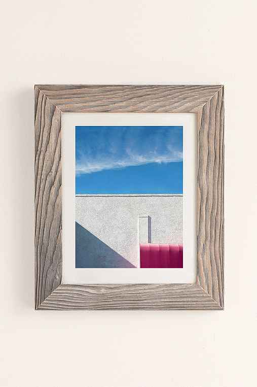 George Byrne Pink & White #2 Art Print,BUFF BARNWOOD,13X19