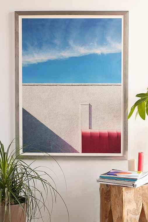 George Byrne Pink & White #2 Art Print,SILVER MATTE FRAME,18X24