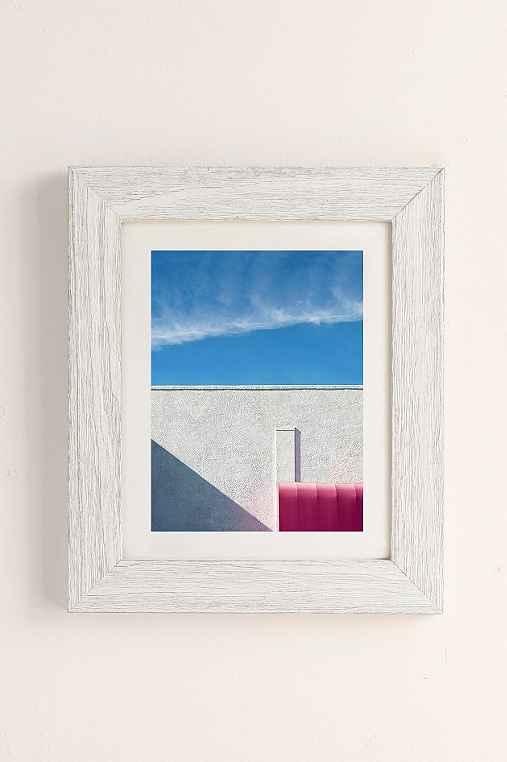 George Byrne Pink & White #2 Art Print,WHITE BARNWOOD,13X19