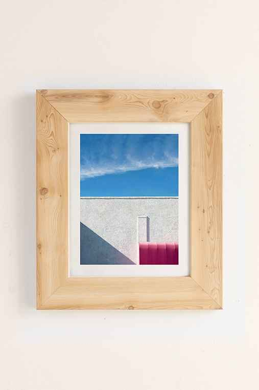 George Byrne Pink & White #2 Art Print,PINE,40X60