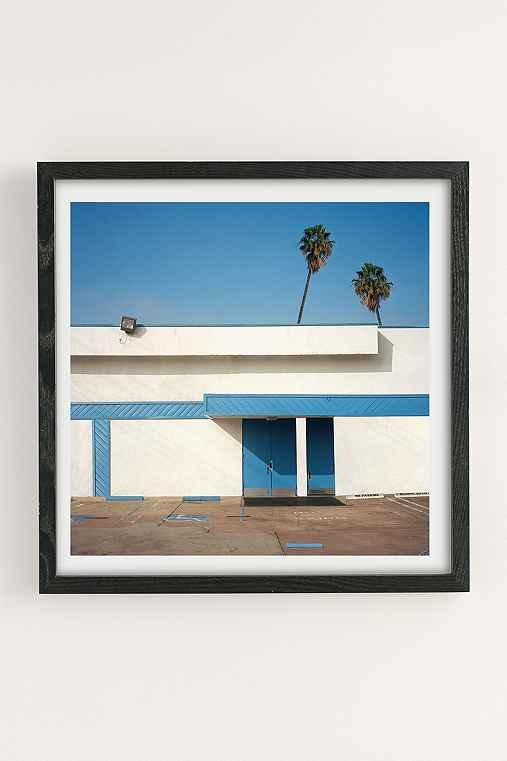 George Byrne Malibu 2015 Art Print,BLACK WOOD FRAME,20X20
