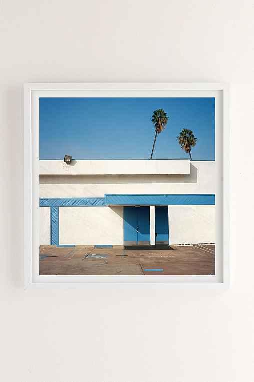 George Byrne Malibu 2015 Art Print,WHITE WOOD FRAME,12X12