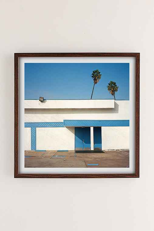 George Byrne Malibu 2015 Art Print,WALNUT WOOD FRAME,30X30