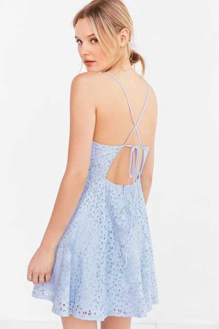 Kimchi Blue Lace Strappy-Back Fit + Flare Dress