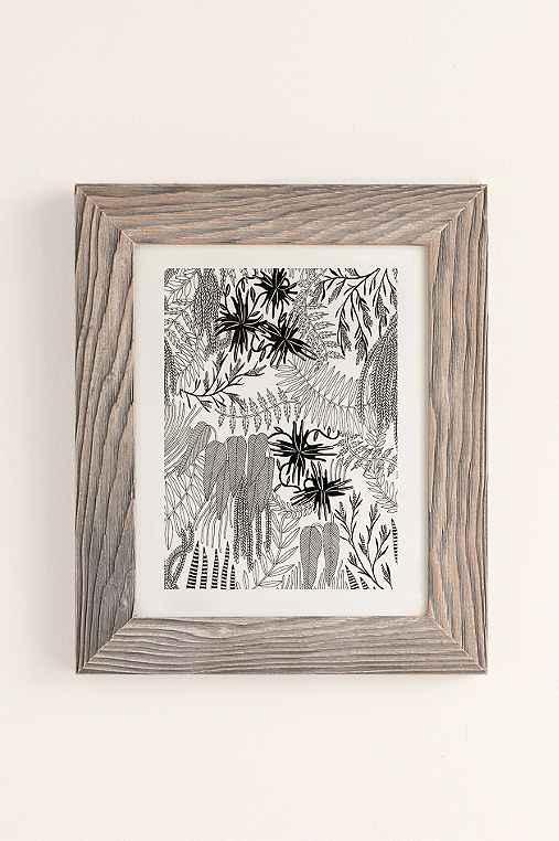 Caitlin Foster Botanical Art Print,BUFF BARNWOOD,40X60
