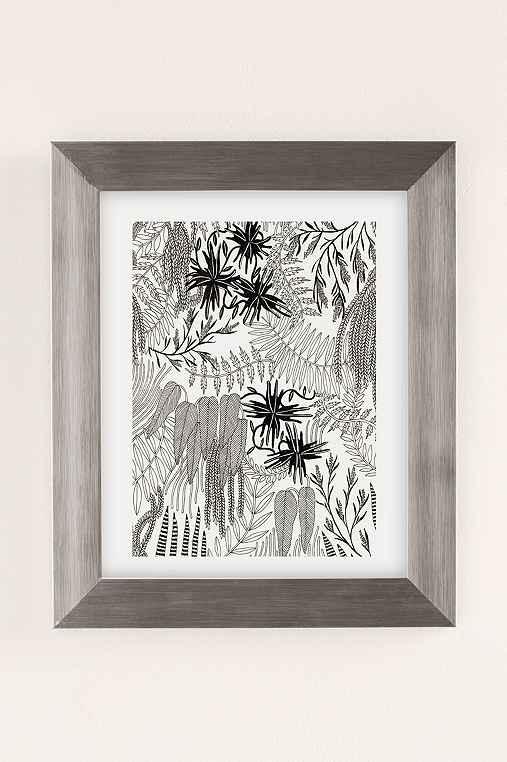 Caitlin Foster Botanical Art Print,SILVER MATTE FRAME,30X40