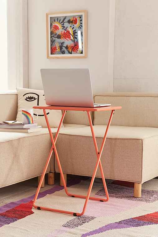 Metal Folding Tray Table,CORAL,ONE SIZE