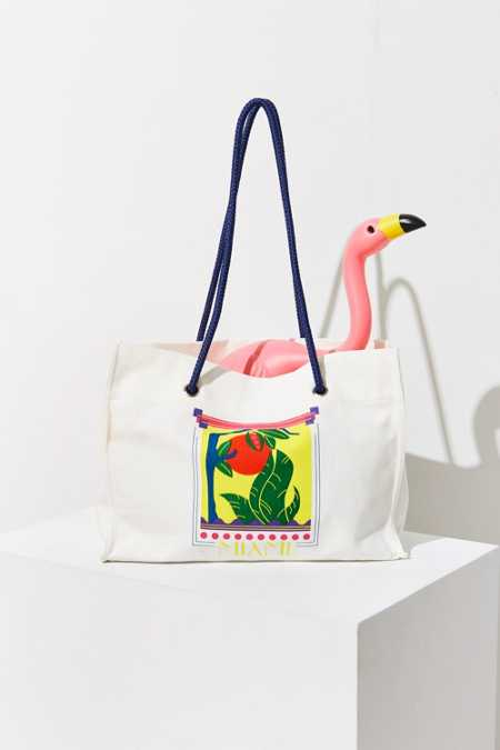 UO Souvenir Miami Word Tote Bag