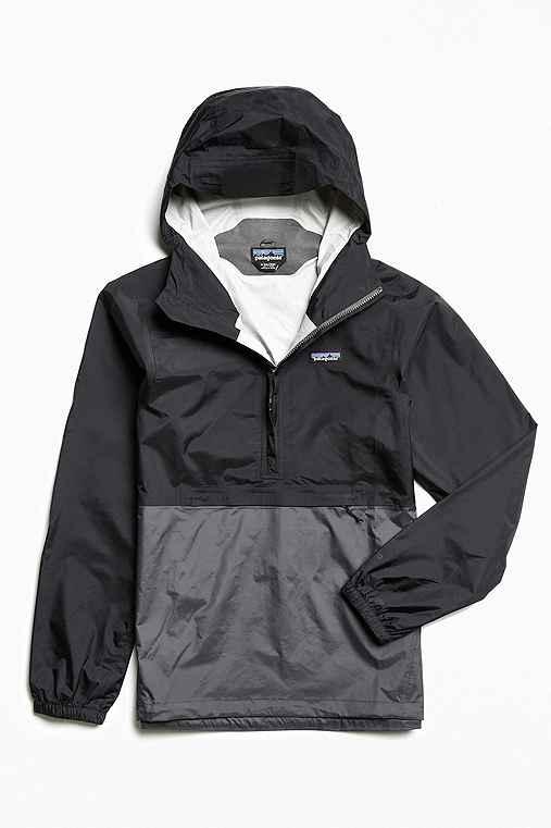 Patagonia Torrentshell Pullover Anorak Jacket,BLACK,S