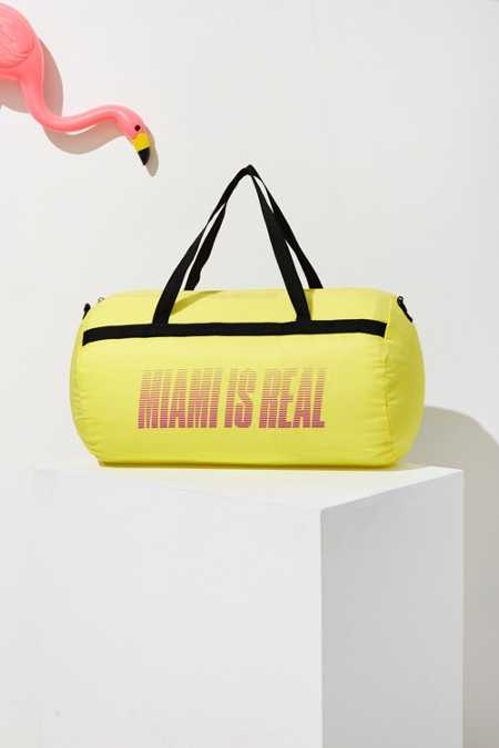 UO Souvenir Miami Packable Duffle Bag