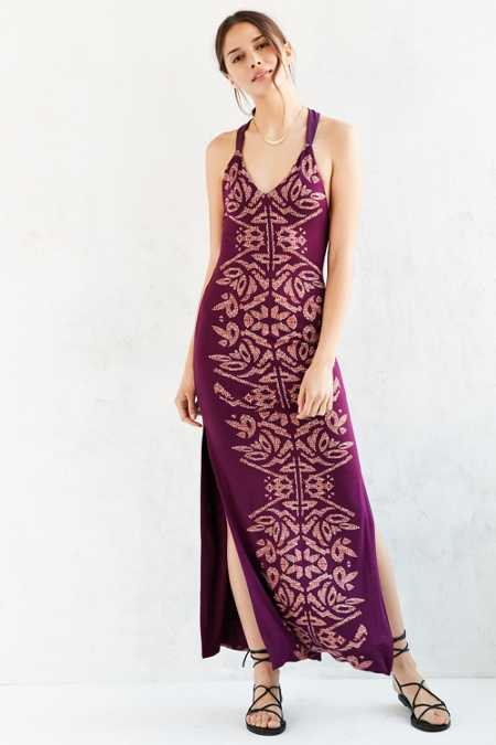 Silence + Noise Lee Lee Knit T-Back Maxi Dress
