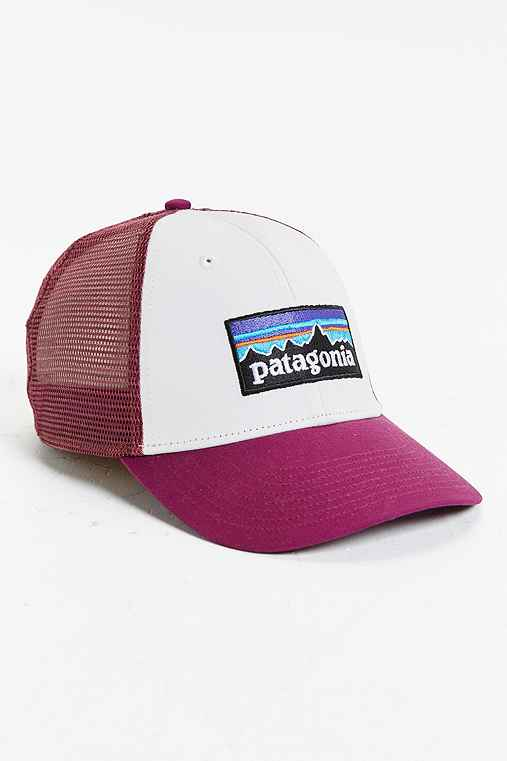 Patagonia P6 Logo LoPro Trucker Hat,PURPLE,ONE SIZE