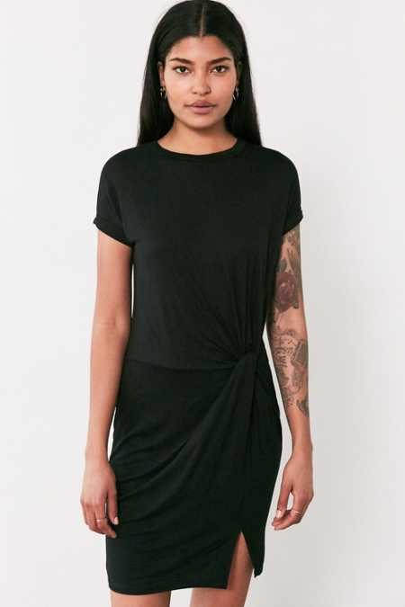 Silence + Noise Side Knot T-Shirt Dress