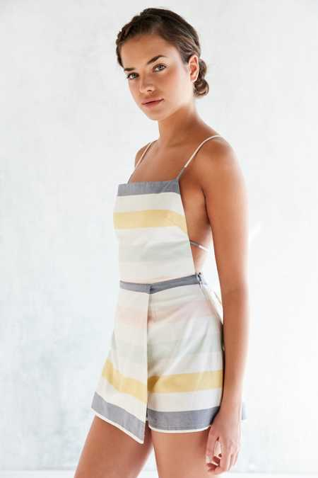 Cooperative Sherbet Striped Skort Romper