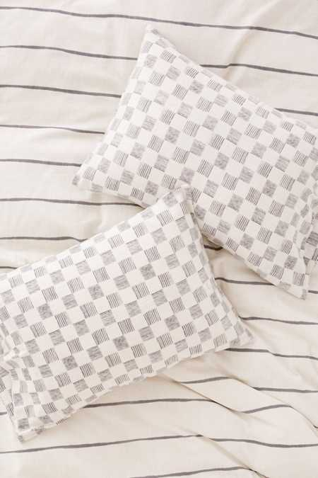 Campo Check Woven Pillowcase Set