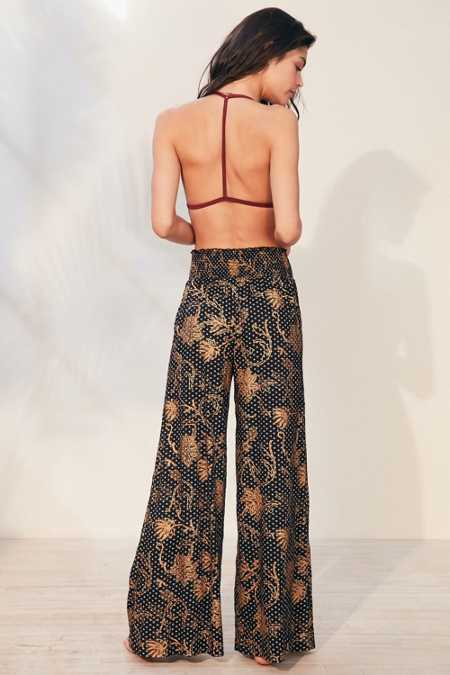 Out From Under Foil Print Wide Leg Pant