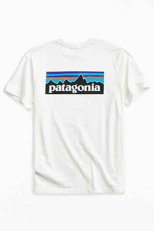 Patagonia P-6 Logo Tee,WHITE,M