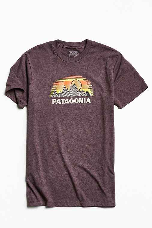 Patagonia Woven Fitz Roy Tee,BROWN,S