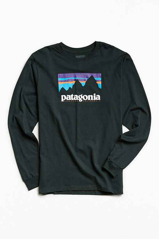 Patagonia Shop Sticker Long Sleeve Tee,SILVER,L