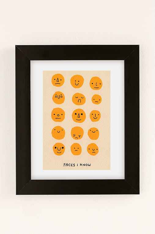 Hiller Goodspeed Faces I Know Art Print,BLACK MATTE FRAME,30X40