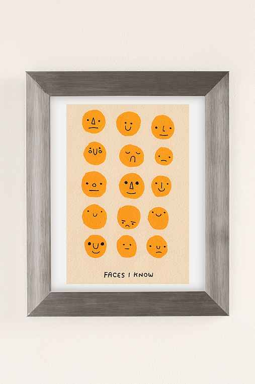Hiller Goodspeed Faces I Know Art Print,SILVER MATTE FRAME,18X24