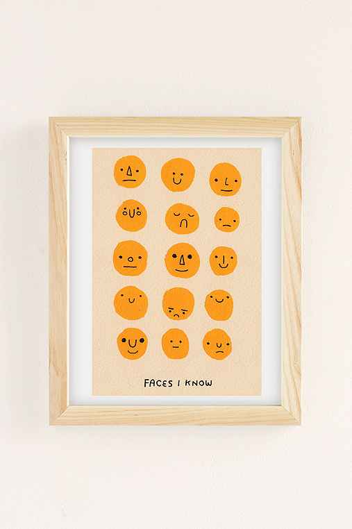 Hiller Goodspeed Faces I Know Art Print,NATURAL WOOD FRAME,8X10